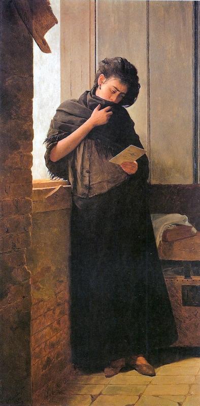 Almeida Júnior, Saudade, 1899 - zu: Anspruch und Begehren