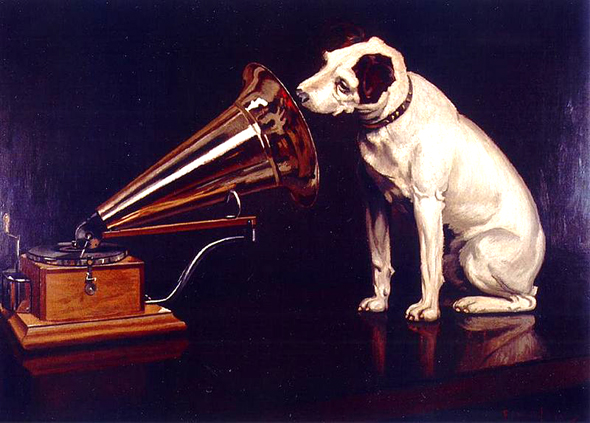 Francis Barraud - Nipper - 1898 - His_Master's_Voice - zu: Stimme als Objekt a
