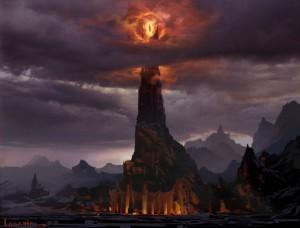 Barad-dûr, Saurons Festung, aus dem Film Herr der Ringe