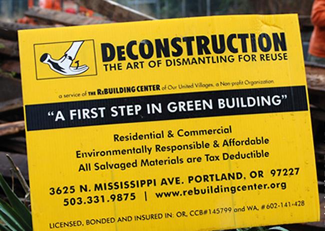 Deconstruction-sign - zu: Mangel im Anderen