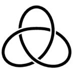 Diagramm einer Kleeblattschlinge (rechtshändig)