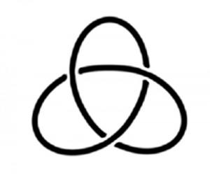 Linkshändige Kleeblattknoten