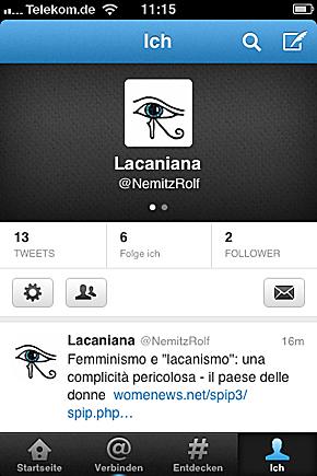 Lacaniana - zu: In eigener Sache