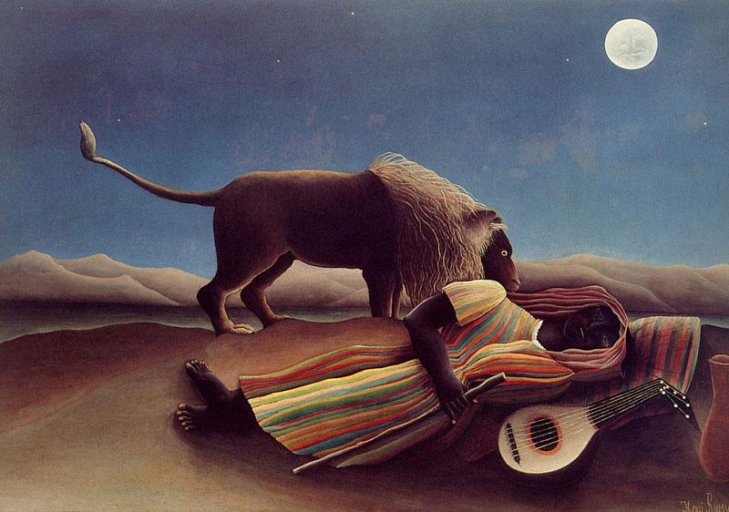 Henri Rousseau - Le nomade dormant - 1897 - zu: Jacques Lacan, Todestrieb und Begehren