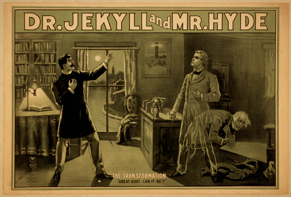 Dr_Jekyll_and_Mr_Hyde_poster (zu Jacques Lacan, Gespaltenes Subjekt)