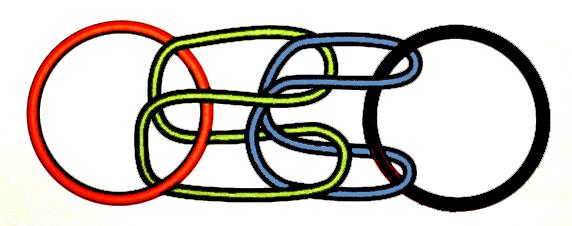 Borromäischer Knoten 2 + 2