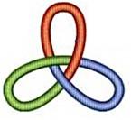 Kleeblattknoten in drei Farben für RSI