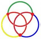 Umwandlung eines borromäischen Knotens aus drei Ringen in eine Kleeblattschlinge