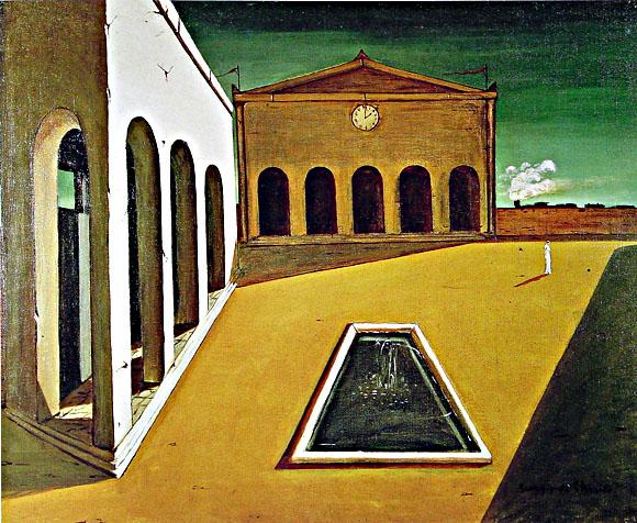 Giorgio de Chirico, I piaceri del poeta, 1912 (zu Jacques Lacan, Signifikant und Subjekt)