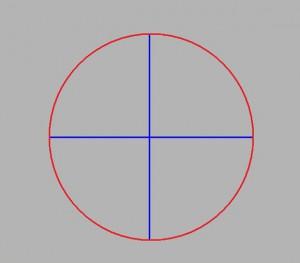 Kreis mit Kreuz 1