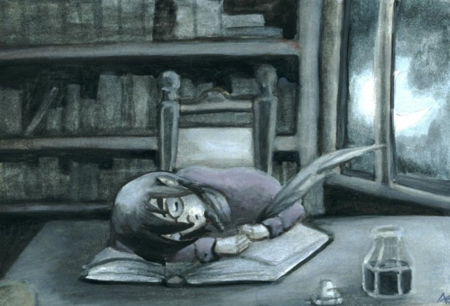 the_sleeping_writer_by_merida