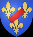 Familienwappen der Herzoge von Vendôme mit Schrägbalken (zu Jacques Lacan über den Phallus)