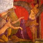 Fresko aus der Mysterienvilla nähe Pompeji - Enthüllung des Phallus - 2