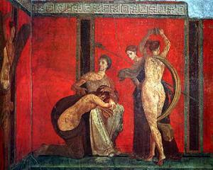 Mysterienvilla: Szene der Flagellation (zu Jacques Lacan über den Phallus)