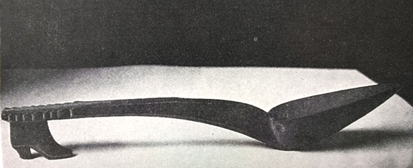 Man Ray - Holzlöffel mit Frauenschuh - aus Breton L'amour fou (zu Jacques Lacan, Begehren)