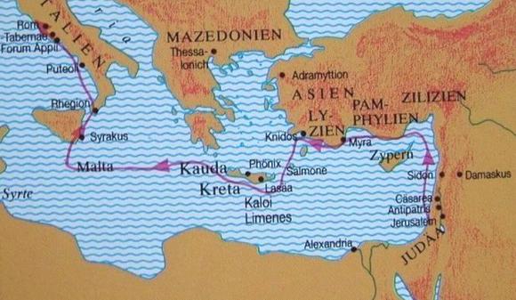 Romreise von Paulus