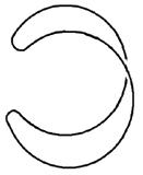 Trivilaler Knoten - C-förmig gebogen
