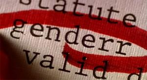 Secretary - Tippfehler genderr mit rotem Kringel