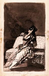 Goya - Aguarda que benga (zu Jacques Lacan, Schema von Auge und Blick)
