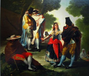 Goya - Die Maja und die Masken - 1777 (zu Jacques Lacan, Schema von Auge und Blick)
