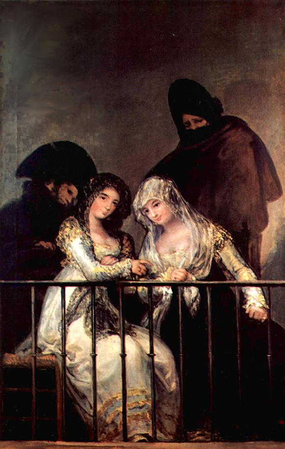 Goya - Majas auf einem Balkon (zu: Jacques Lacans Schema von Auge und Blick)