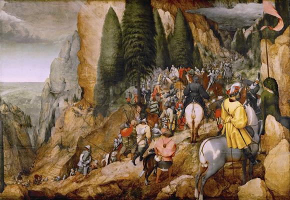 Pieter Breugel der Ältere - Die Bekehrung des Paulus - 1567 (zu Jacques Lacan, Begehren)