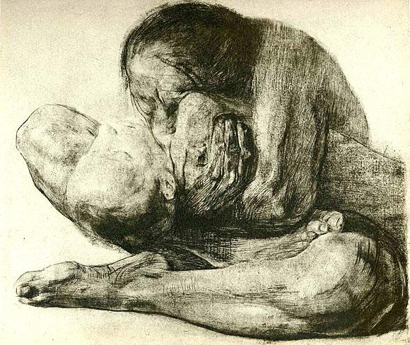 Käthe Kollwitz - Frau mit totem Kind (zu Jacques Lacan, Metonymie des Begehren)