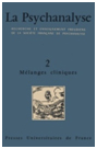 Ohrenbrücke auf der Titelseite von La Psychanalyse