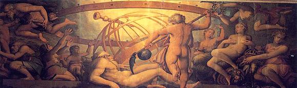 Vasari , Kronos kastriert Uranos (zu Jacques Lacan, Seminar 23 über James Joyce)
