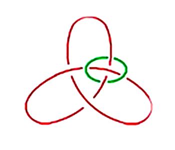 Kleeblatt mit Ring oben rechts