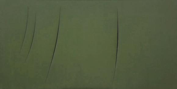 Lucio Fontana - Concetto spaziale - 1959