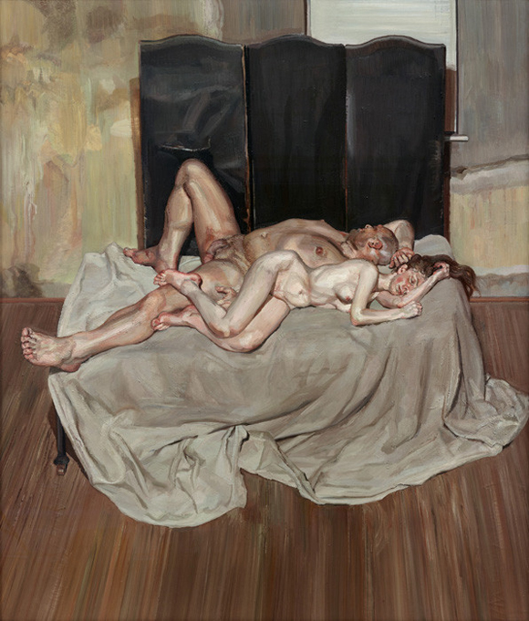 Lucien Freud - And the bridegroom - 1993