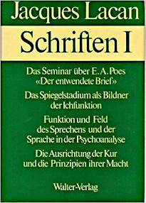 Titelseite von: Jacques Lacan: Schriften I, Haas-Ausgabe, Walter-Verlag 1973