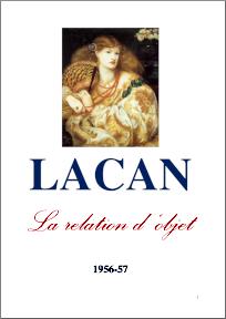 Jacques Lacan, Seminar 4, La relation d'objet, Staferla 2015, Titelseite