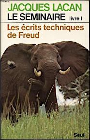 Jacques Lacan, Seminar 1, Les écrits technqiues de Freud, Seuil 1975, Titelbild
